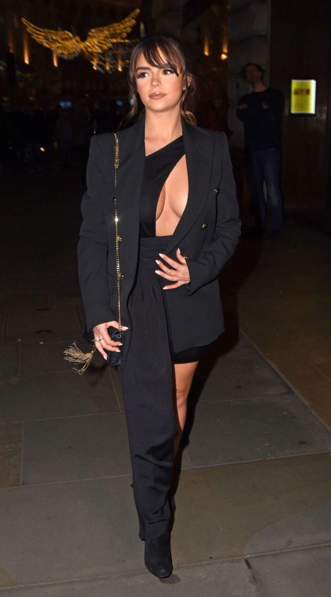 Demi Rose Mawby 2019 : Demi Rose Mawby was pictured while arriving at Cafe Royal in London-26
