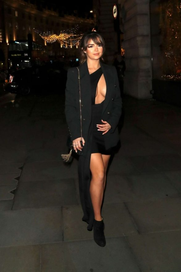 Demi Rose Mawby 2019 : Demi Rose Mawby was pictured while arriving at Cafe Royal in London-40