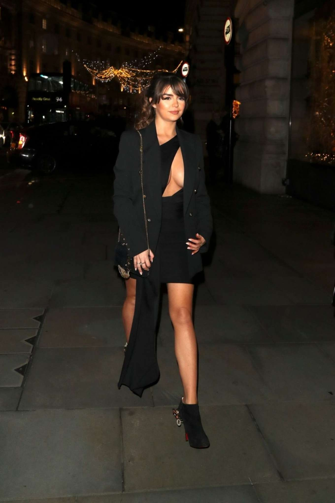 Demi Rose Mawby 2019 : Demi Rose Mawby was pictured while arriving at Cafe Royal in London-43