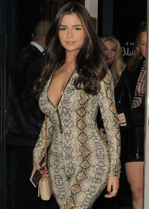 Demi Rose - Night out in London