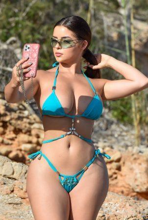 Demi Rose - Seen on the beach in Ibiza