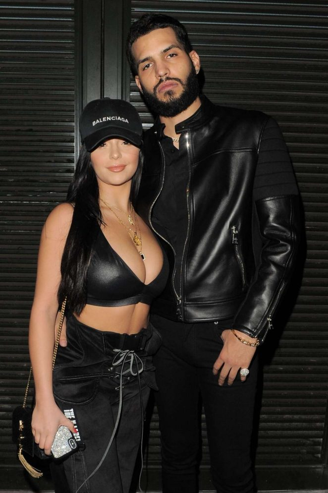 Demi Rose - Seen With DJ Chris Martinez at Fabric Club in London