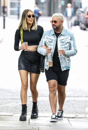 Demi Sims and Dean Rowland - Seen while out in Soho Square in London