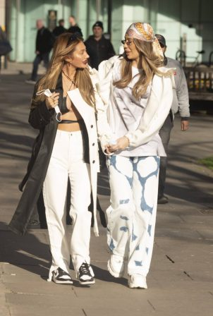Demi Sims and Francesca Farago - Seen after PrettyLittleThing Photoshoot