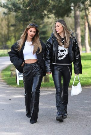 Demi Sims and Francesca Farago - The Only Way is Essex TV Show filming in Essex