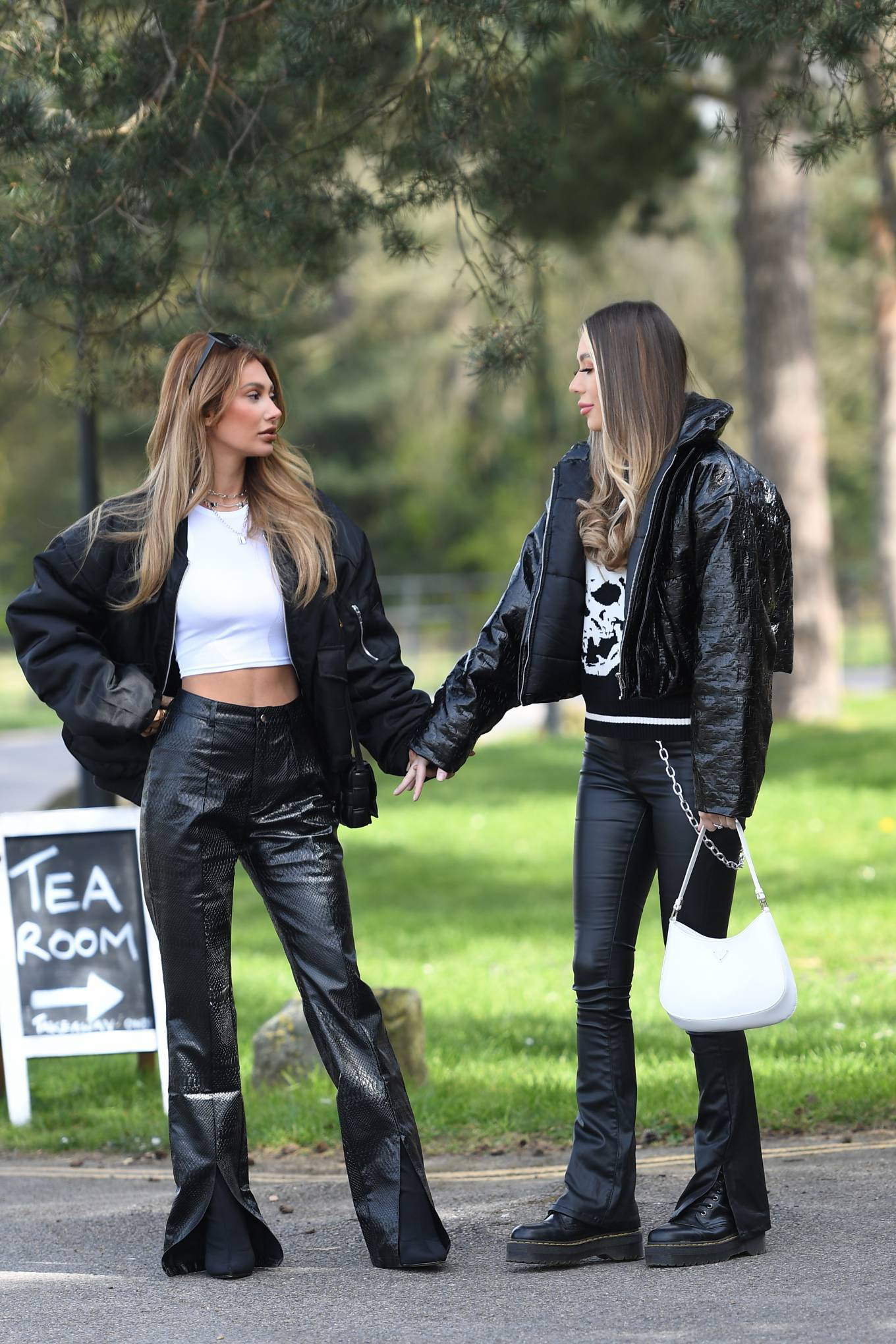 Demi Sims 2021 : Demi Sims and Francesca Farago – The Only Way is Essex TV Show filming in Essex-03