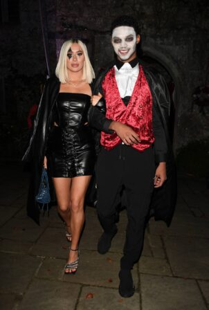 Demi Sims - TOWiE TV Show filming, Halloween Special