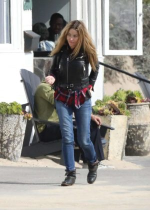 Denise Richards out in Malibu