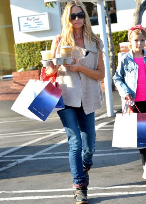 Denise Richards in Jeans at Fred Segal in Los Angeles