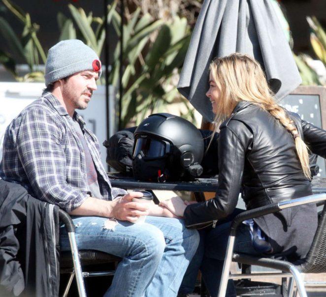 Denise Richards with her new boyfriend in Malibu