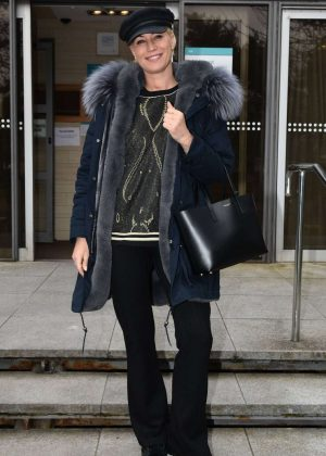 Denise Van Outel - Leaves RTE Studios in Dublin