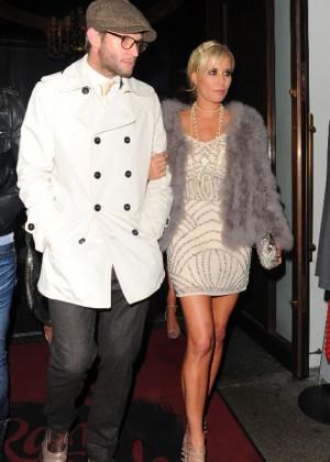 Denise Van Outen and boyfriend Eddie Boxshall Leaving Rah Rah Room Club in London