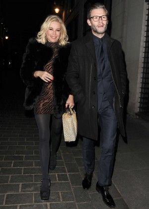 Denise Van Outen at Kimberley Walsh's hen party in London