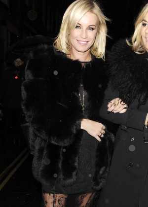 Denise Van Outen - Leaving Mr Froggs Tavern in London