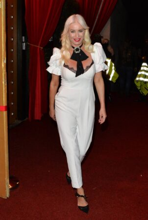 Denise Van Outen - Leaving Proud Embankment after performing at her Cabaret show in London