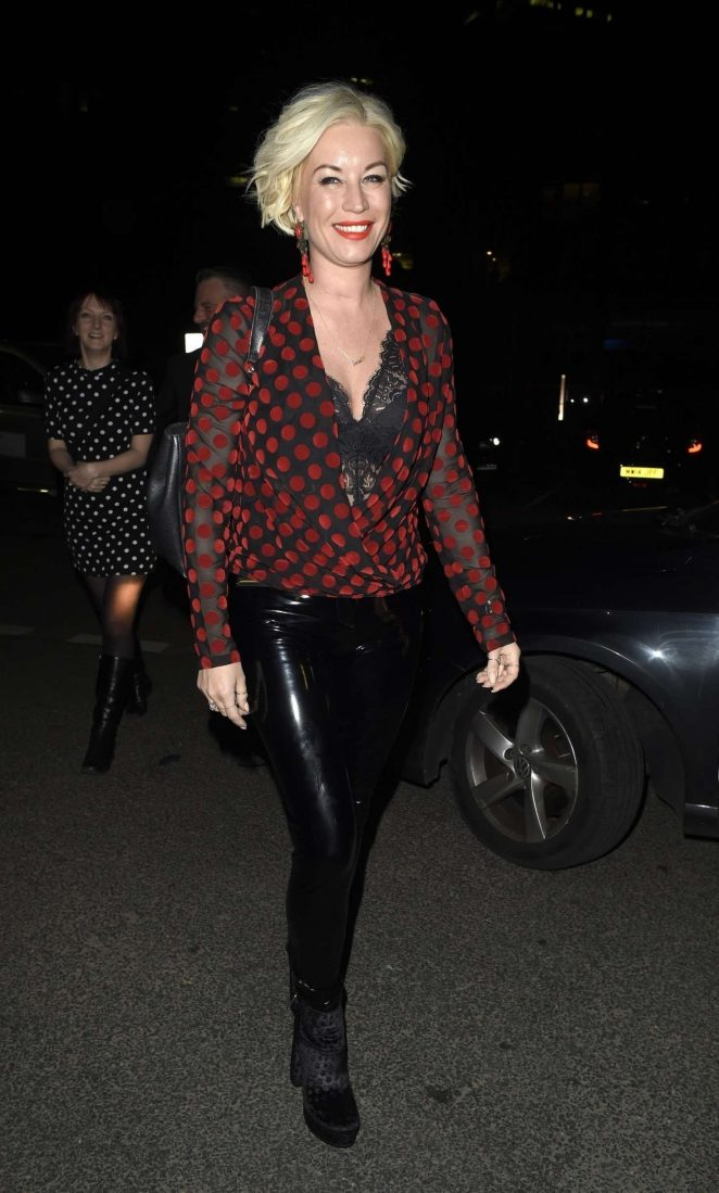 Denise Van Outen - Night out at Menagerie in Manchester
