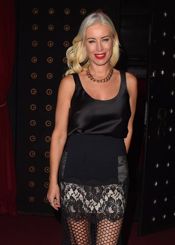 Denise Van Outen - Seen Arriving at Proud Embankment Club in London