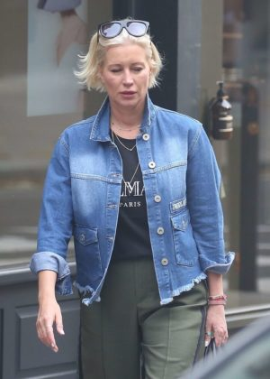 Denise Van Outen seen out with friends in Hampstead