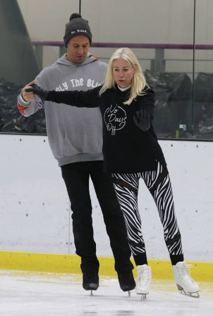 Denise Van Outen - training today for ITV hit show 'Dancing on Ice' in London