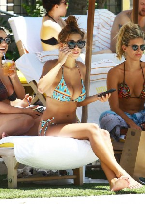 Devin Brugman and Natasha Oakley in Bikini in Miami