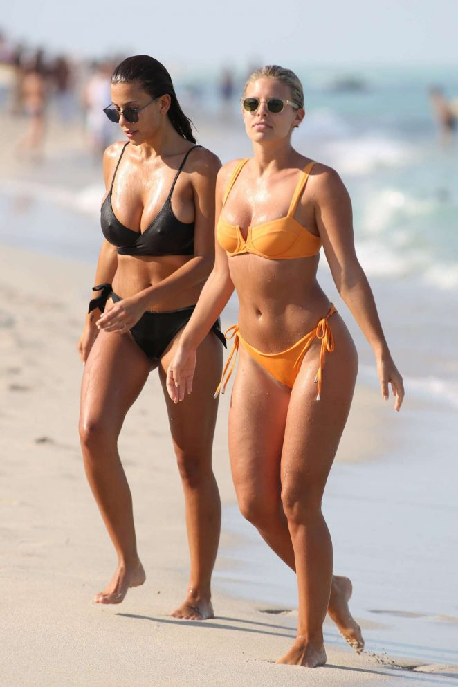 Devin Brugman and Natasha Oakley - Bikini Candids on Miami Beach