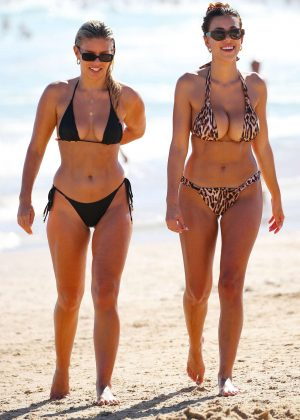 Devin Brugman and Natasha Oakley in Bikini at Bondi Beach in Sydney adds