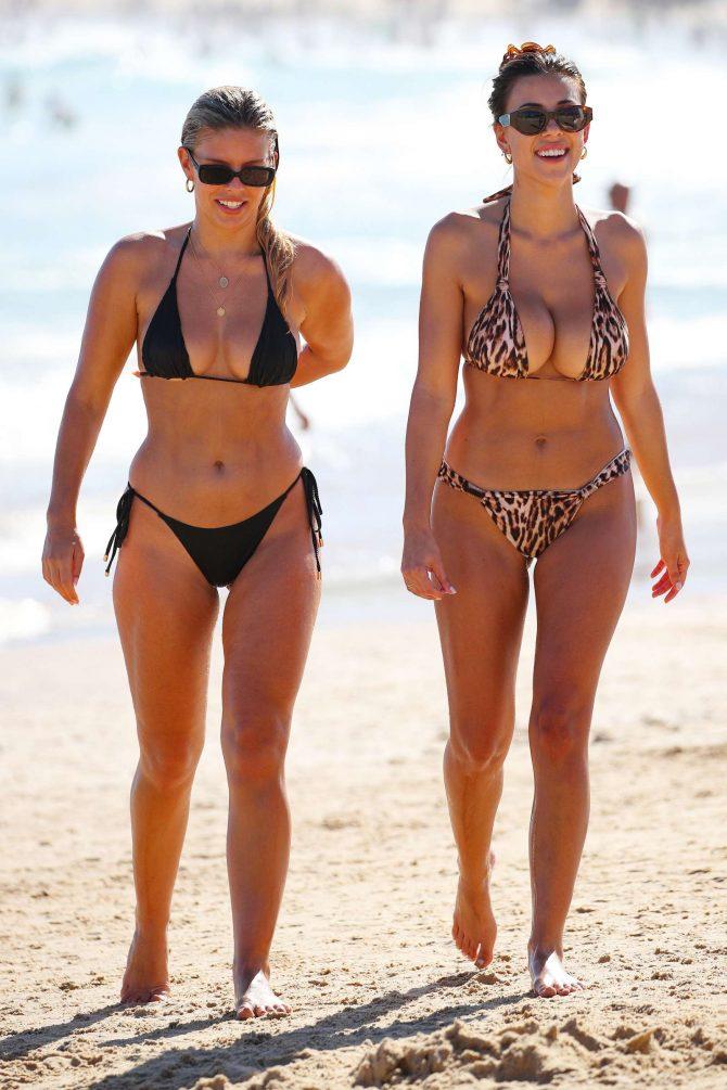 Devin Brugman and Natasha Oakley in Bikini at Bondi Beach in Sydney adds