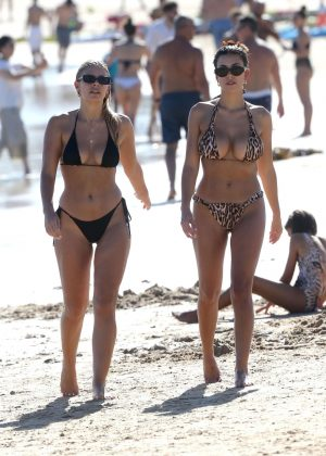 Devin Brugman and Natasha Oakley in Bikini at Bondi Beach in Sydney