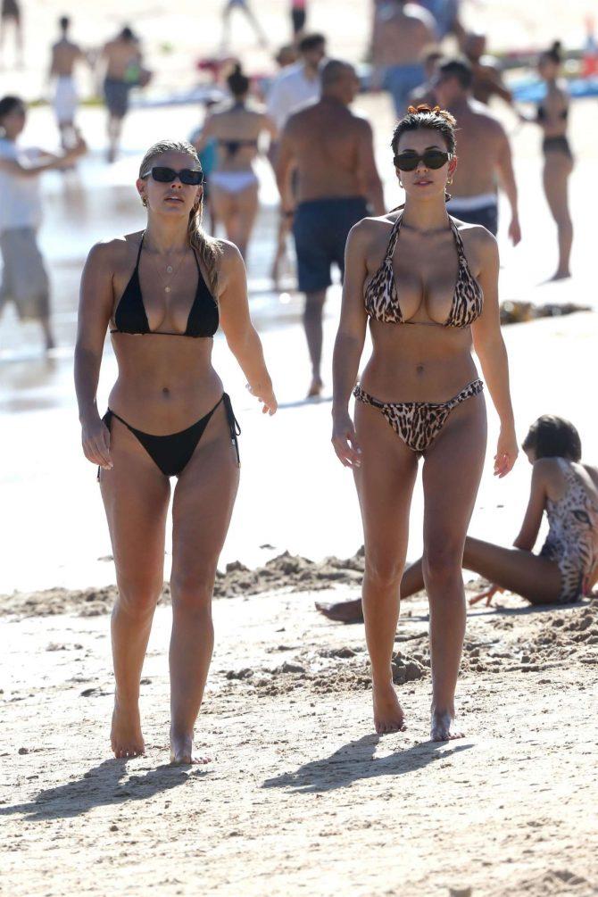 Devin Brugman and Natasha Oakley in Bikini at Bondi Beach in Sydney
