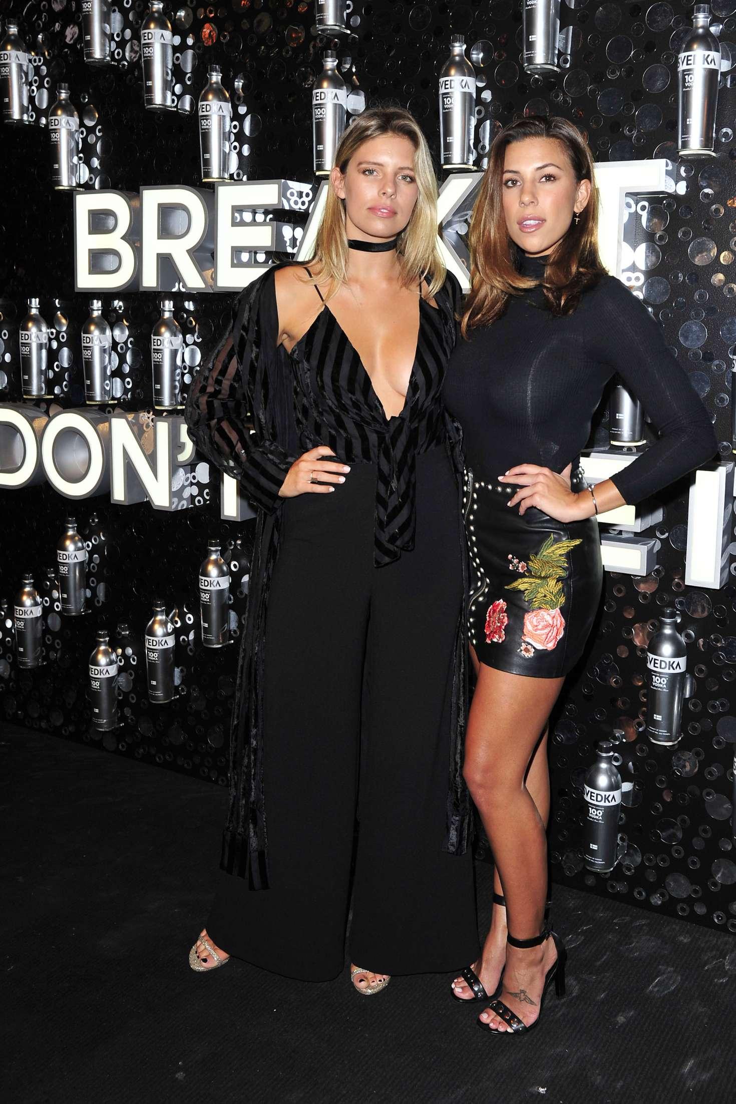 Devin Brugman and Natasha Oakley - Svedka Vodka's Broken Resolutions Bash in LA