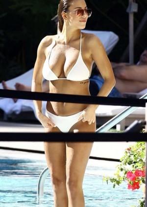 Devin Brugman in White Bikini -01