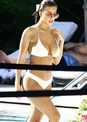 Devin Brugman in White Bikini -04