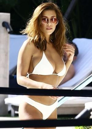 Devin Brugman in White Bikini -11