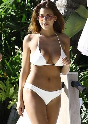 Devin Brugman in White Bikini -13