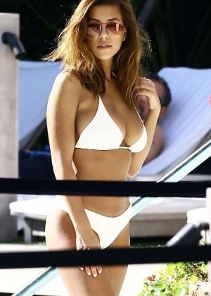 Devin Brugman in White Bikini -16