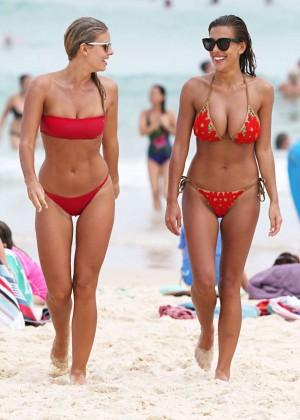 Devin Brugman and Natasha Oakley in Red Bikini -26