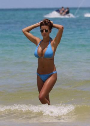 Devin Brugman in Blue Bikini -04