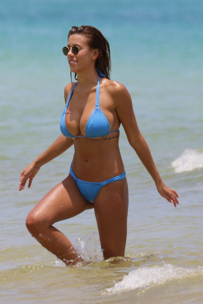 Devin Brugman in Blue Bikini in Miami