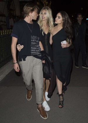 Devin Windsor and Olivia Culpo - Leaving Plaza Athenee in Paris