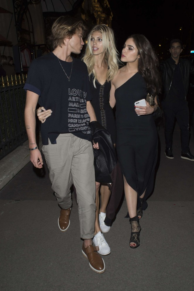 Devin Windsor and Olivia Culpo – Leaving Plaza Athenee in Paris
