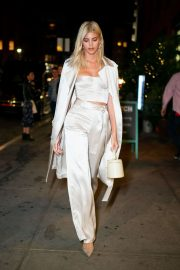 Devon Windsor - Arriving at Olivia Culpo's 27th birthday in NYC