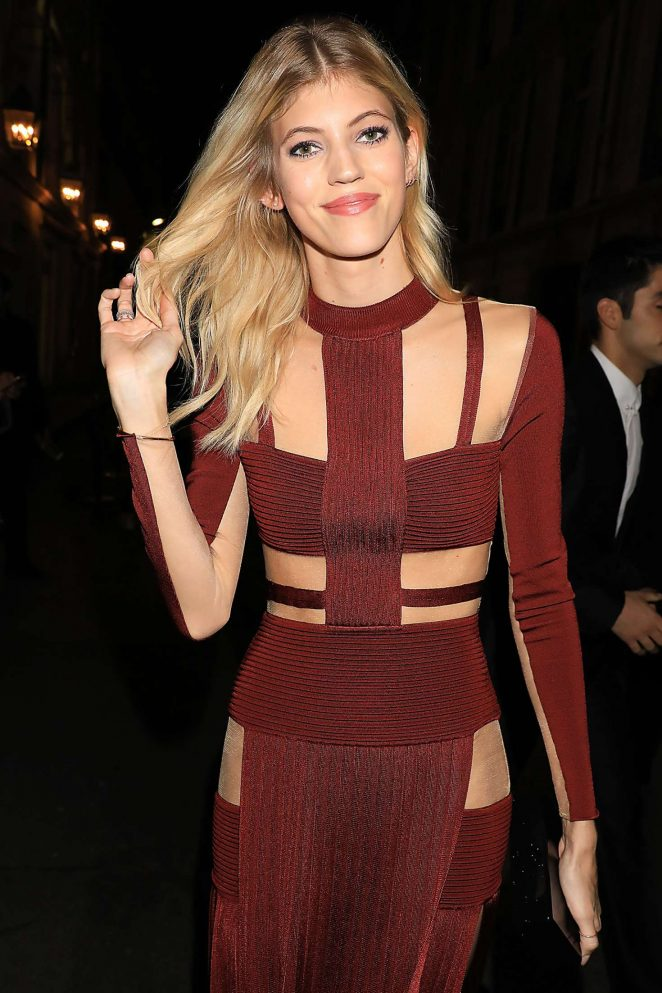 Devon Windsor Leaving Vogue Fashion Fund Cocktail in Paris