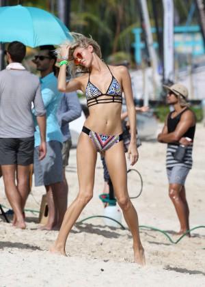Devon Windsor - Victoria's Secret Bikini Photoshoot in St Barts
