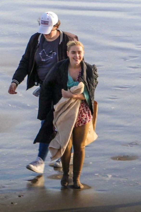 Diana Kruger and Kiernan Shipka - On 'Swimming with Sharks' set in Malibu