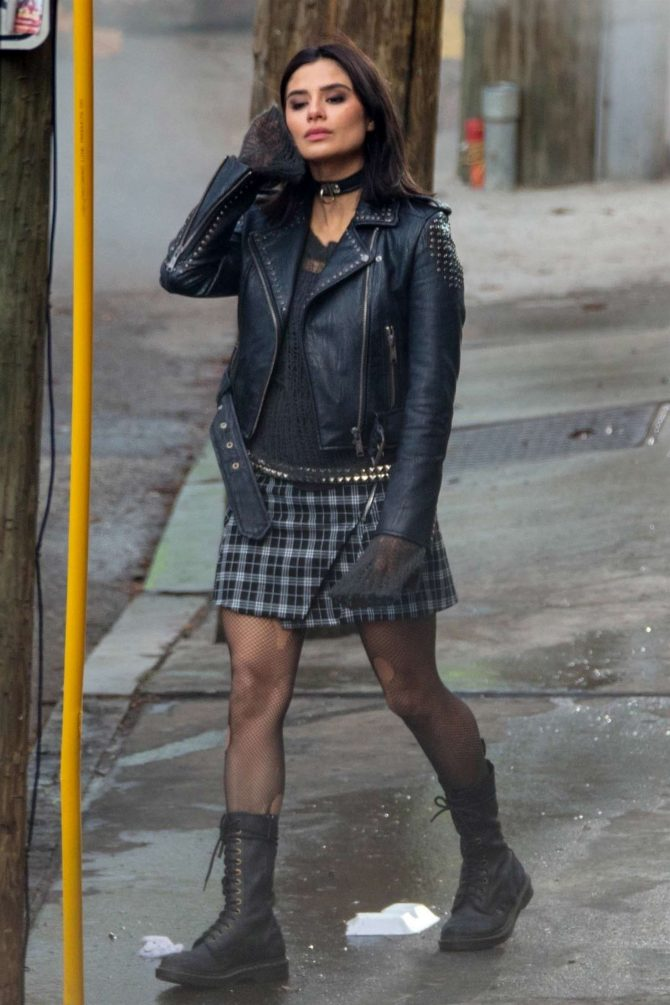 Diane Guerrero: On set for Doom Patrol -10