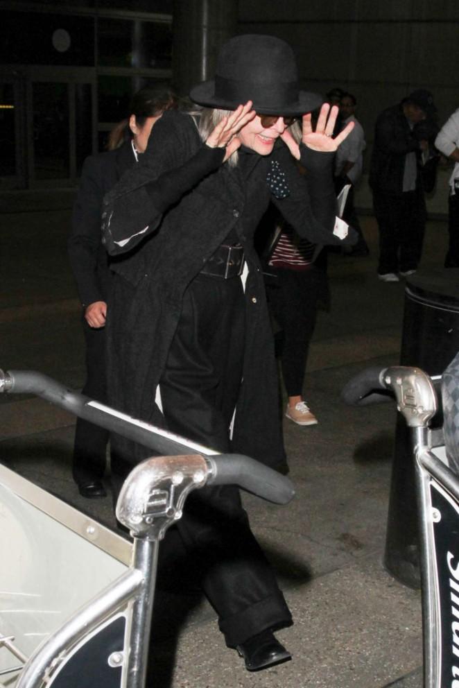 Diane Keaton Arrives at LAX