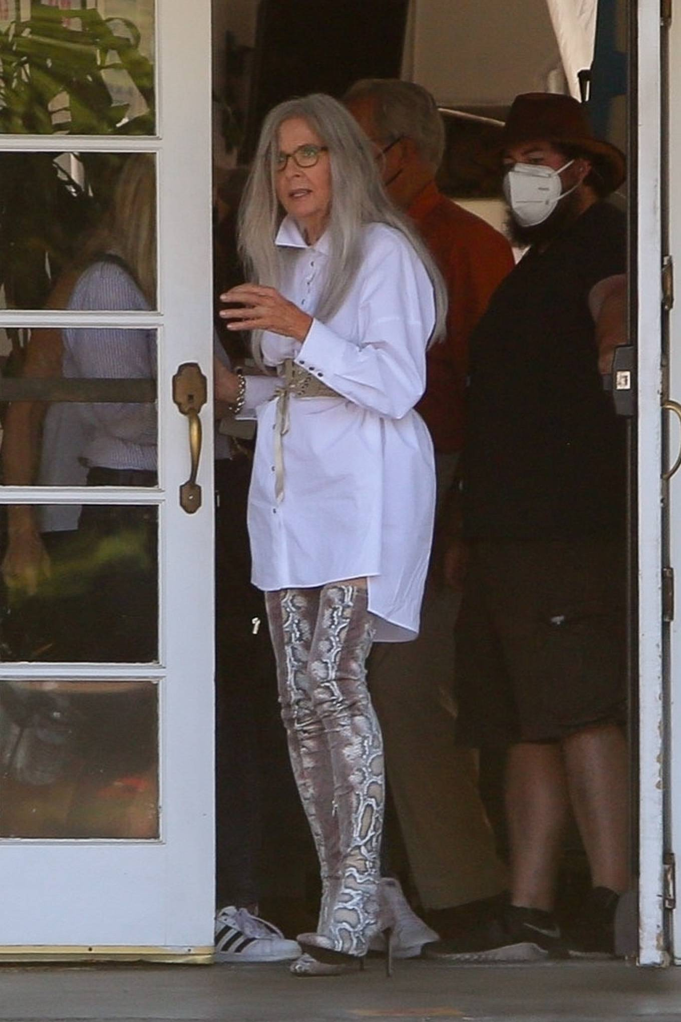 Diane Keaton - Seen on the set of 'Mack and Rita' in Palm Springs