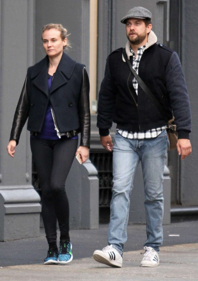 Diane Kruger and Joshua Jackson out in New York City