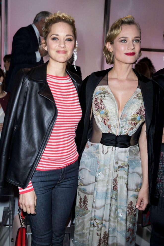 Diane Kruger and Marion Cotillard at Armani Prive Fashion Show 2018 in Paris