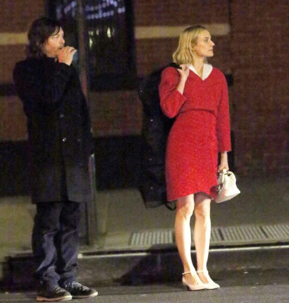 Diane Kruger and Norman Reedus - Leaving a restaurant in New York City